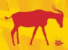 Antelope Free Vector Silhouette Clip Art, Animal Silhouette, Free Vector Images, Vector Free, African Antelope, Nature Vector, Zoo Animals, Sea Creatures, Vector Graphics