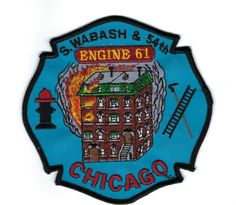 Chicago Fire Department Engine 56 Patch Illinois IL