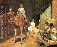 A Marketplace In Ispahan - Edwin Lord Weeks - Oil Painting Reproductions