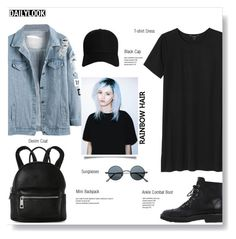 """""""Matchy-Matchy Hair"""" by brccz ❤ liked on Polyvore featuring Monki, Street Level, Boohoo, Giuseppe Zanotti, hairtrend, rainbowhair and polyvoreeditorial"""