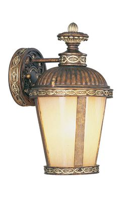 Livex Lighting 8630-64 Seville Wall Light Palacial Bronze with Gilded Accents