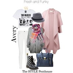 A fashion look from January 2015 featuring Forever 21 t-shirts, Chloé coats and Proenza Schouler jeans. Browse and shop related looks.