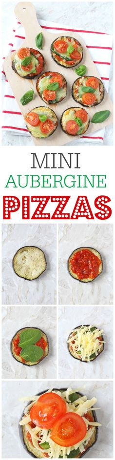 Sneak some extra veggies into your family's diet with these delicious Mini Aubergine or Eggplant Pizzas! My Fussy Eater blog