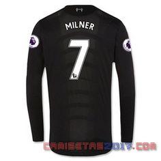 Camiseta manga larga Milner Liverpool 2016 2017 segunda