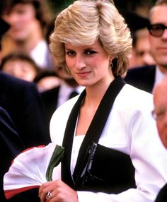 April 26, 1985: Princess Diana visiting a children's hospital & Boy's Town, a center for orphans founded after the war in Rome. Day 8