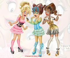 My Shopping Girls - Character Design by Malane Newman