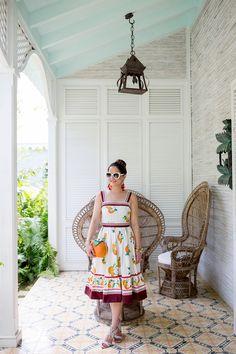 Kate Spade Orangerie Fit Flare Dress