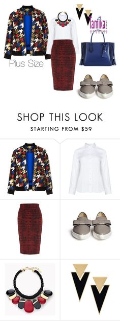 """PlusSize fashion"" by mystylishwayz on Polyvore featuring Manon Baptiste, Eterna, Melissa McCarthy Seven7, Fabio Rusconi, Chico's, Yves Saint Laurent, Longchamp, stylish, Trendy and plussize"