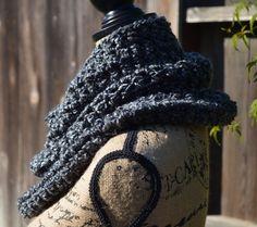 Crochet cowl, crochet infinity scarf