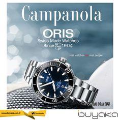 Dünyaca ünlü İsviçreli saat markası Oris, Campanola Saat Buyaka'da! #BuyakaBiBaşka #Campanola #Saat #Oris