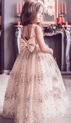 Prom Dresses Elegant, princess flower girl dress, champagne flower girl dress, long flower girl dress, cute flower girl dress with bow York Dresses Princess Flower Girl Dresses, Cheap Flower Girl Dresses, Little Girl Dresses, Flower Girl Dresses Burgundy, Tulle Flower Girl, Dress With Bow, The Dress, Baby Dress, Dress Long