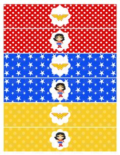 Instant Download Printable Wonder Woman by PartyInnovations09