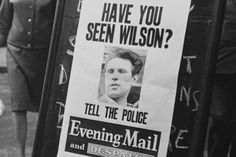 A poster seeking Charlie Wilson, one of the train robbers