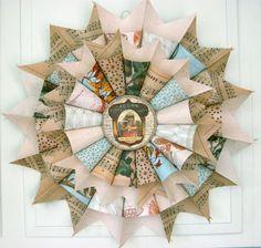 Vintage Style Autumn Paper Wreath with by JenniferRSmithStudio, $40.00