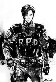 Leon S. Kennedy sketch circa Resident Evil 2.