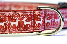Nordic Sweater Reindeer Collar by DogCollarsEtc on Etsy, $12.00