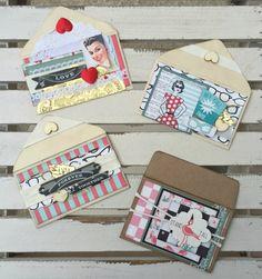 Super cute retro gift card holders using Authentique Fabulous line.