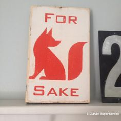 Handpainted sign from The Salvage Sign. #fox