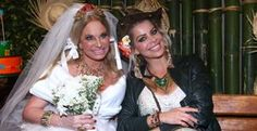 Brunete Fraccaroli e Karina Bacchi viram caipiras em festa junina - Brunete Fraccaroli e Karina Bacchi participam da festa junina da ONG Florescer, em São Paulo