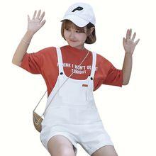 Mihoshop Ulzzang Korean Korea Women Fashion Clothing Preppy summer Denim Bib loose all-match wide leg pants shorts //FREE Shipping Worldwide //