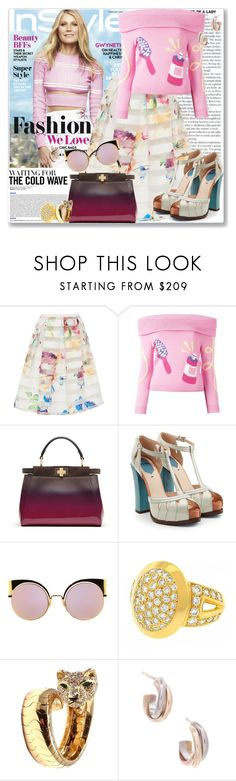 """Celeb Style: Gwyneth Paltrow"" by coraline-marie ❤ liked on Polyvore featuring Ted Baker, Jeremy Scott, Fendi and Cartier"