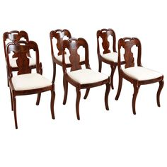Set of Six American Empire Dining Chairs, circa 1830 | From a unique collection of antique and modern dining room chairs at https://www.1stdibs.com/furniture/seating/dining-room-chairs/