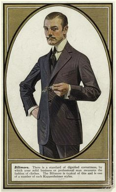 Men's Fashion, J.C Leyendecker.  Source: New York Public Library.