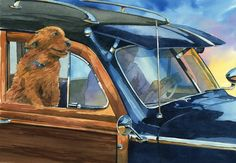 Watercolor Paintings of Dogs and Woodies