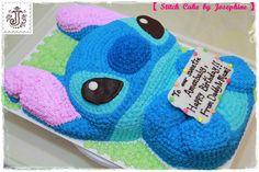 小Jo甜館Siu Jo sweet house: Stitch Cake 史廸仔蛋糕 Disney Desserts, Disney Cakes, Disney Food, Disney Birthday, Birthday Fun, Birthday Ideas, Birthday Cake, Lilo And Stitch Cake, Stitch Disney
