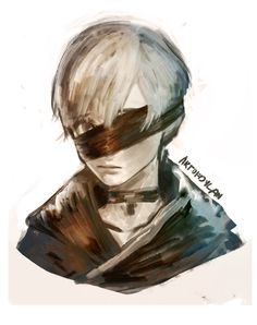 NieR: Automata 9S Nier Automata, Drawing Heads, Character Design, Character Reference, Game Art, Robot, Videogames, Zelda, Animation