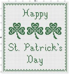 The world according to Ági: St. Patrick's Day cross stitch pattern
