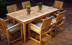Wood patio table plans New Ideas Outdoor Wood Furniture, Patio Furniture Sets, Garden Furniture, Teak Furniture, Furniture Ideas, Furniture Websites, Inexpensive Furniture, Patio Dining, Patio Table