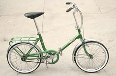 Another vintage green bicycle. Bianchi folder.