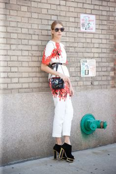 Shop the look: Elena Perminova in New York
