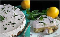 Lemon Bar Raspberry Mousse Cake with Mint Sugar - Peas and Peonies