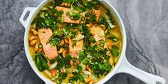 Salmon and Bok Choy Green Coconut Curry recipe | Epicurious.com