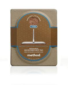 Method Omop Wood Microfiber Mop Pad - Case of 6 Box Packaging, Packaging Design, Method Homes, Clamshell Packaging, Mop Pads, Chiffon, Icecream Bar, Protective Packaging, Box Design