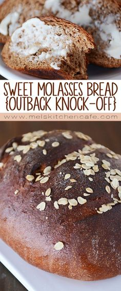 This easy delicious recipe for sweet molasses bread is. This easy delicious recipe for sweet molasses bread is just This easy delicious recipe for sweet molasses bread is just like the soft tender loaves you get at your favorite steakhouse restaurant! Artisan Bread, Bread Baking, Cooking Bread, Yeast Bread, Bread Food, Croissants, Pizza, Food To Make, Cooking Recipes