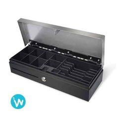 Ce tiroir caisse Cash Bases Flip Lid 460 est un tiroir avec ouverture vers le haut spécialement conçu pour un usage intensif .