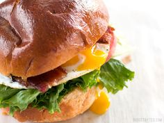 Brown Sugar Bacon Breakfast Sandwiches with Chipotle Mayo - Budget Bytes