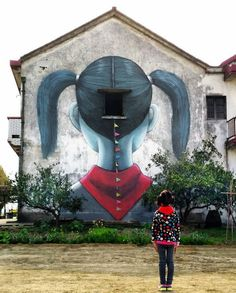 """New wall by Seth GlobePainter - """"Chinese escape"""" (day 2) - Fengjing, China - Apr 2016"""