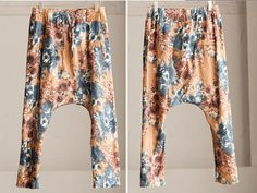 Coffee Sunflower Pocket Pants Loose Cotton Women by clothingshow