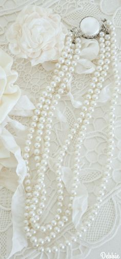 Bridal Accessories, Bridal Jewelry, Fashion Accessories, Fashion Jewelry, Vintage Pearls, Vintage Jewelry, White Elegance, Pearl And Lace, Pearl Jam