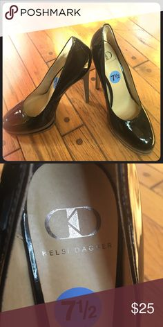Size 7 1/2 Kelsi Dagger Black Pumps Sexy black pumps. Never worn! The bottom of the heel has little wear however the shoes themselves are in excellent condition! Kelsi Dagger Shoes Heels