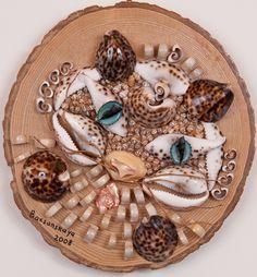 Seashell Crafts for Adults | Playful Cat | Modern Seashell Art by Alla Baksanskaya
