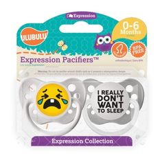 Personalized Pacifiers I really don't Want To Sleep Emoji Pacifiers 0-6 Months