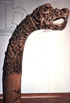 Credit: Figurehead from a longship, found at Oseburg, Norway (wood), Viking, (9th century) / Viking Ship Museum, Oslo, Norway / The Bridgeman Art Library