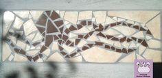 mosaico disegno polipo, realizzato realizzato con scarti di mattonelle rotte per una casa al mare
