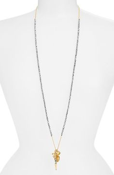 Women's Chan Luu Beaded Cluster Pendant Necklace - Silver/ Crystal