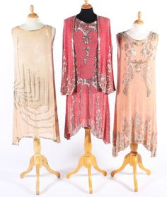 A group of 1920s beaded 'flapper' dresses, Bonham's.